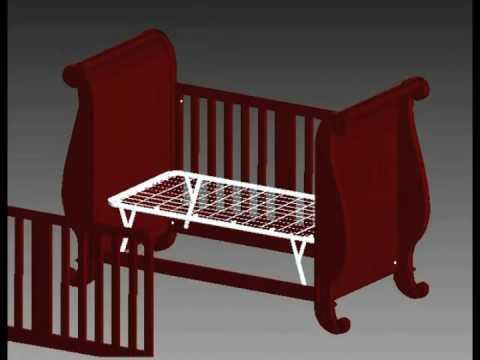 Bratt Decor Assembly Video  Chelsea Sleigh Crib  YouTube