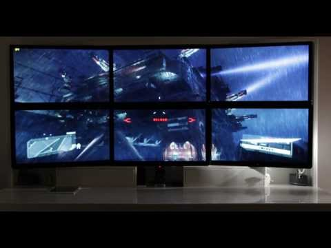 Crysis 3 on Late 2013 Mac Pro with 6 27-inch screens in over 4K resolution