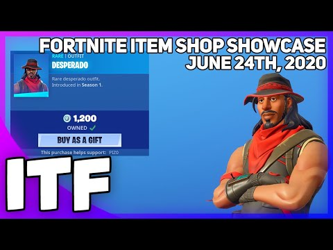 Fortnite Item Shop *RARE* DESPERADO SKIN IS BACK + MORE! [June 24th, 2020] (Fortnite Battle Royale)