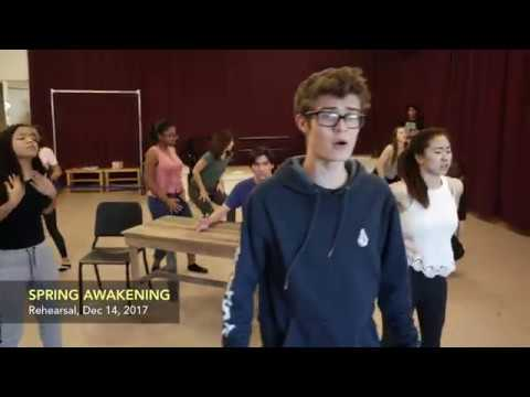 Early rehearsal for  Chadwick School's Spring Awakening