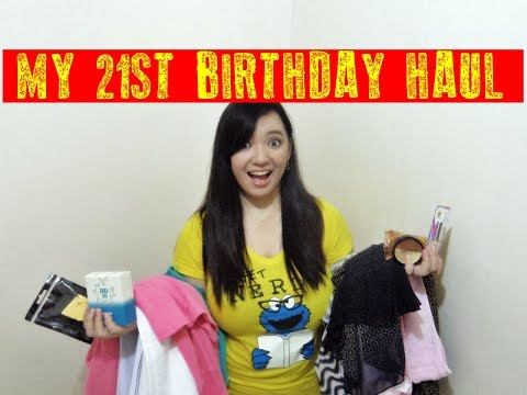 MY 21st BIRTHDAY HAUL ♥ || Marjio Ishibashi