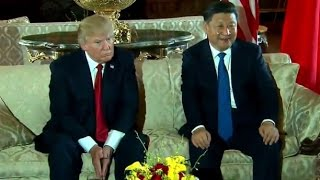 Awkward Silence Between President Donald Trump & China President Xi Jinping At FIRST Meeting