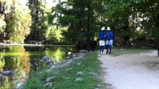 Drunk Smurfs kick asses in a park - Puffi ubriachi violenti in un parco