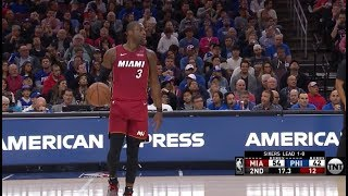 36 Years Old Dwyane Wade Still Got It&Shuts Up The 76ers Noisy Crowd !