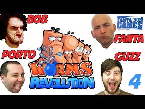 Fanta et Bob dans Worms Revolution avec Guzz et Porto : Ep. 4