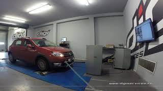 Dacia Sandero 0.9 TCE 90cv Reprogrammation Moteur @ 112cv Digiservices Paris 77 Dyno