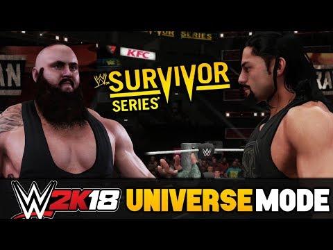 WWE Survivor Series Full PPV - WWE 2K18 RAW Universe Mode ft. Team Reigns vs Team Strowman WWE 2K18