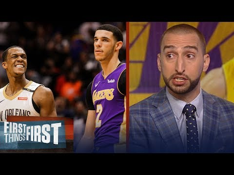 Nick and Cris on Rajon Rondo's impact as a mentor to Lonzo Ball | NBA | FIRST THINGS FIRST