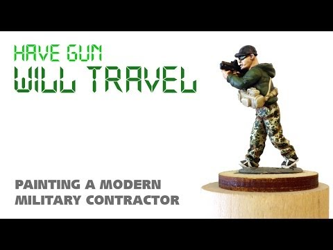 Have gun will travel: painting a modern military contractor