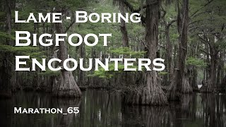 Lame Boring Bigfoot Encounters. Marathon_65
