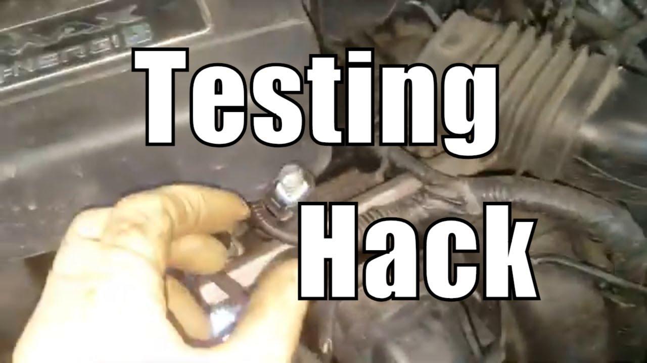 Fuel Injector Testing Hack P0201 P0202 P0203 P0204 P0302