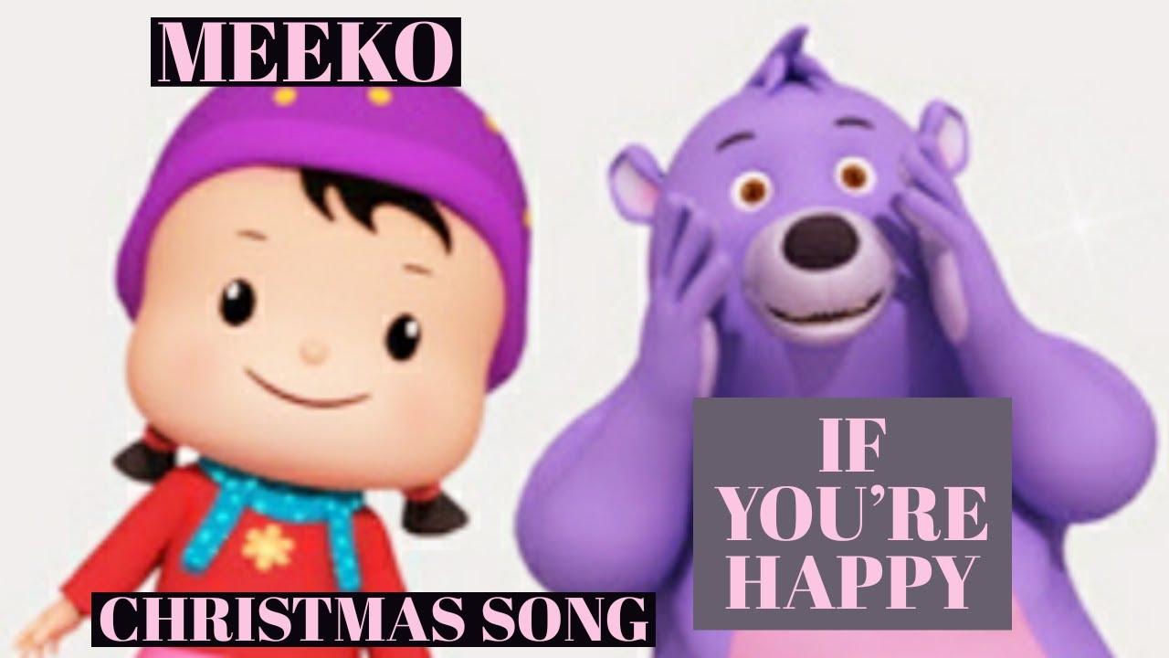 IF YOU'RE HAPPY -MEEKO'S WINTER BREAK |Nursery Rhymes|Kid Song|Marqueen Tv