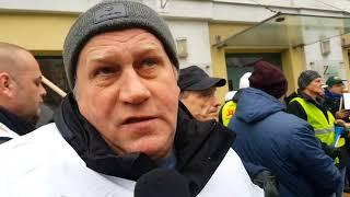 Protest pracowników ZEC w Katowicach [WIDEO: K.ZIÓŁKOWSKA-DĄBEK]]
