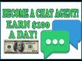 Make A  $100 A Day Chatting Online! 3 Jobs Now Hiring!