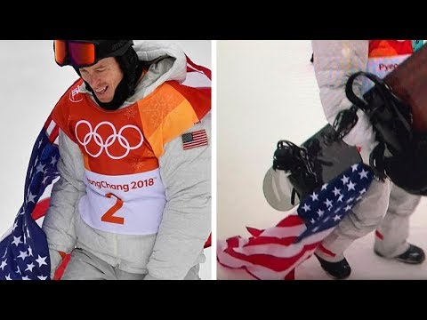 Shaun White SLAMMED for Dragging & Stepping on American Flag After Epic Snowboard Run