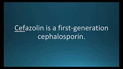 How to pronounce cefazolin (Ancef) (Memorizing Pharmacology Flashcard)