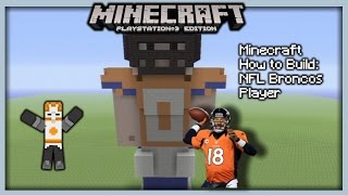 Minecraft How To Build: NFL Broncos Player (Statue)