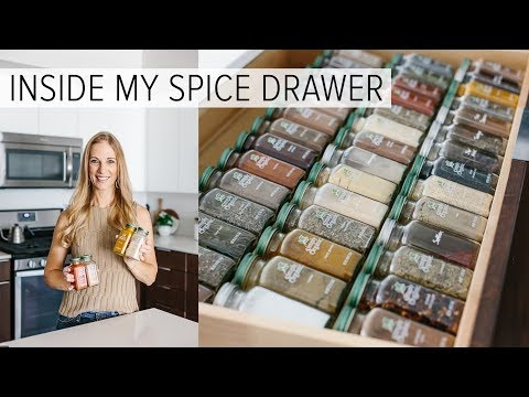 SPICE DRAWER ORGANIZATION   spice tips for healthy recipes