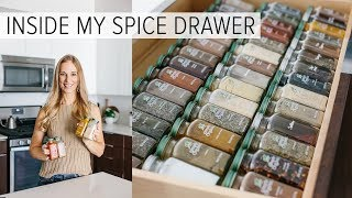 SPICE DRAWER ORGANIZATION | spice tips for healthy recipes