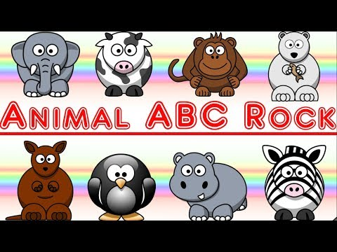 Animal ABC Rock Song: Learn Letters and Animals