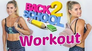 Back to School Workout! 10 minute Metabolic Booster | Rebecca Louise