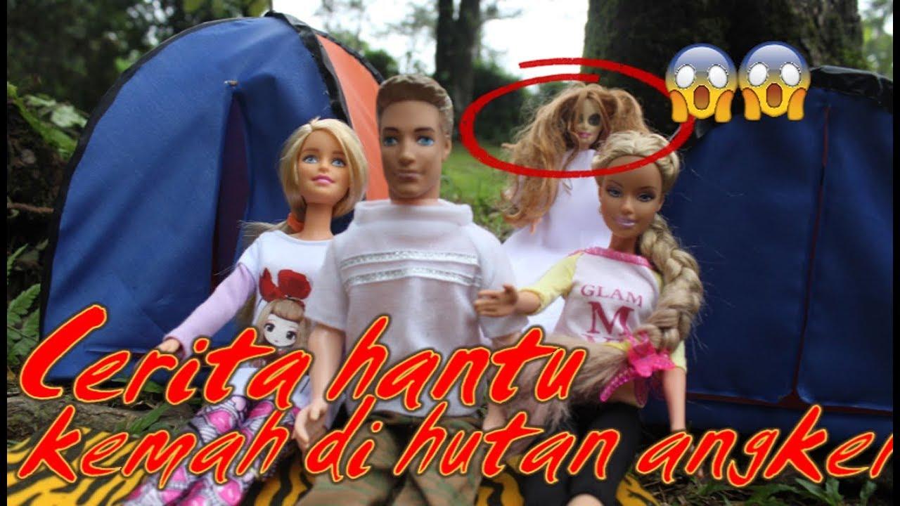 🔴Cerita horor🔴Kemah di hutan angker 🔴drama dongeng anak boneka barbie