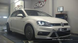 VW Golf 7 2.0 tdi 150cv DSG Reprogrammation Moteur @ 196cv Digiservices Paris 77 Dyno