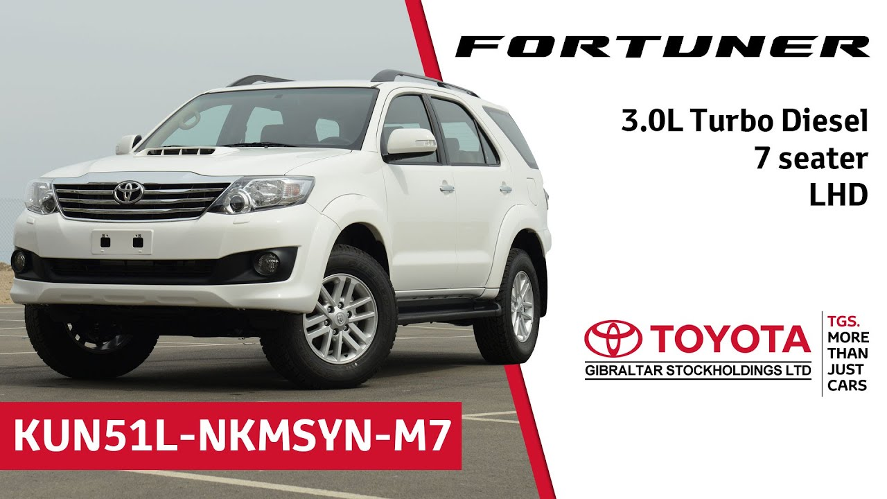 Toyota Fortuner 3 0l Turbo Diesel 7 Seater Lhd Youtube