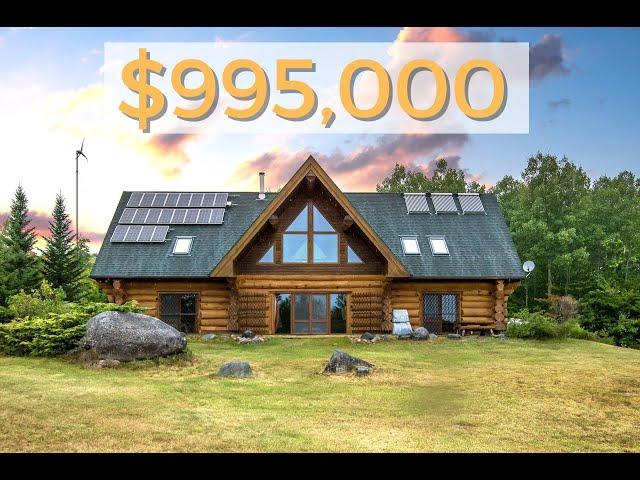 Off Grid, Executive Log Home on 593 Acres in Nova Scotia