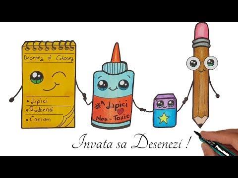 🏫Desenez si colorez | Invata sa desenezi Obiecte Scolare | How to draw from YouTube · Duration:  16 minutes 8 seconds