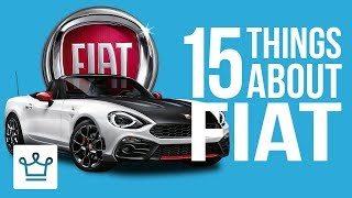 15 Things You Didn't Know About FIAT