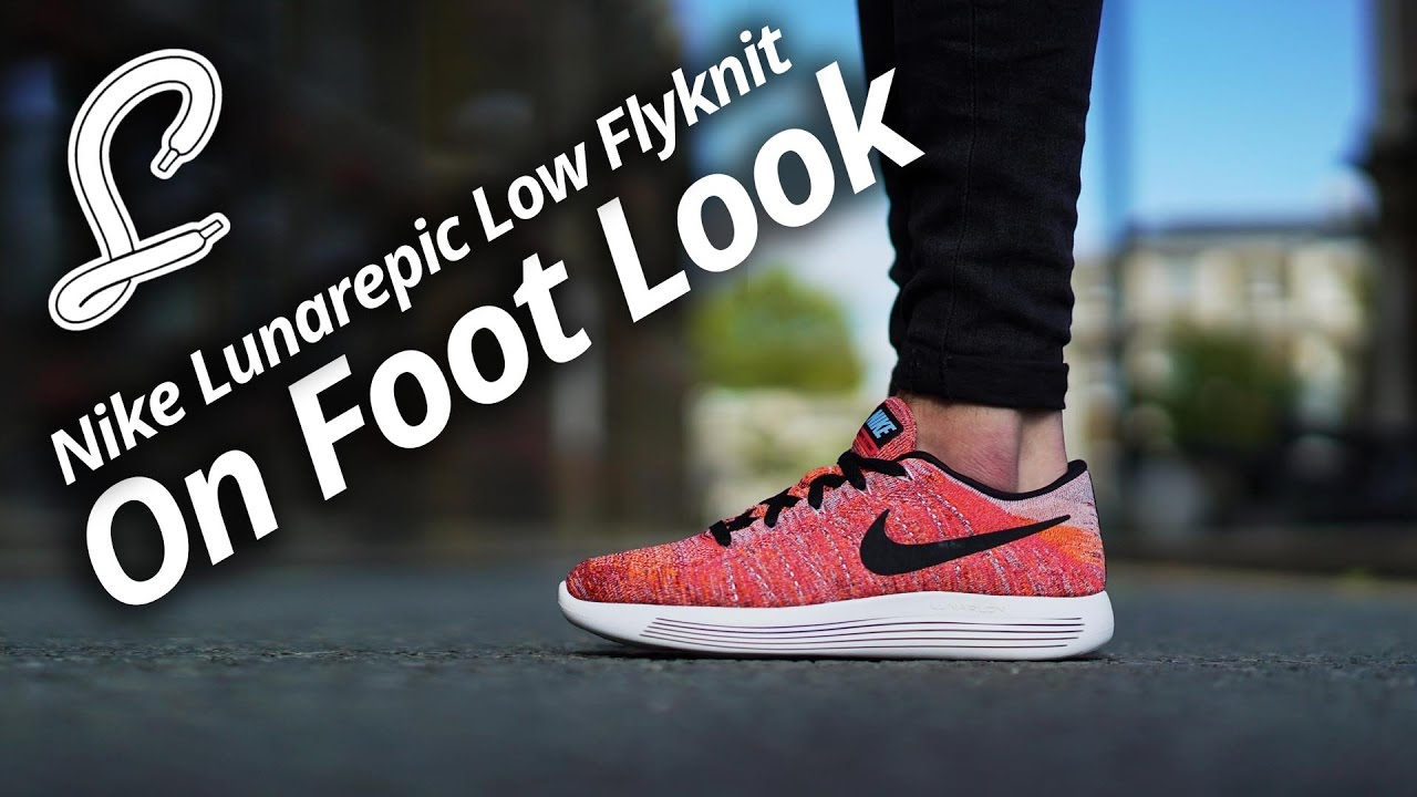 reputable site 25098 f2c88 Nike LunarEpic Low Flyknit On Foot Video   The Sole Supplier