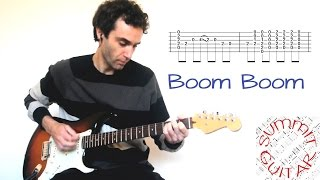 John Lee Hooker - Boom Boom - in the style of Eric Clapton (The Yardbirds) - Guitar lesson with tab