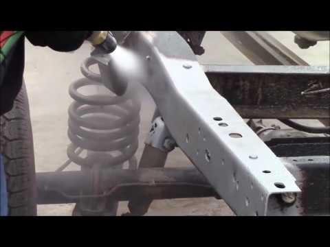 Blasting a Chassis Frame | Car Frame Restoration | Car Stripping Service