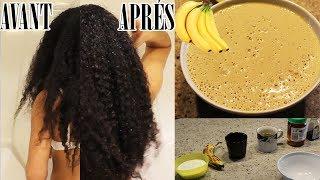 Recette naturel maison à la banane pour cheveux secs et cassants