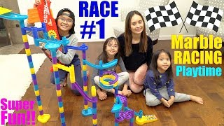 Children's Racing Toys: Marble Racing Playtime RACE NUMBER 1. Family Toy Channel and Playtime Videos