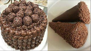 TASTY & EASY Cake Decorating Tutorials   How To Make Chocolate Cake Decorating Recipes Ideas смотреть онлайн в хорошем качестве - VIDEOOO