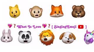 animoji karaoke emoji singing what is love? twice 트와이스 with engkor lyrics