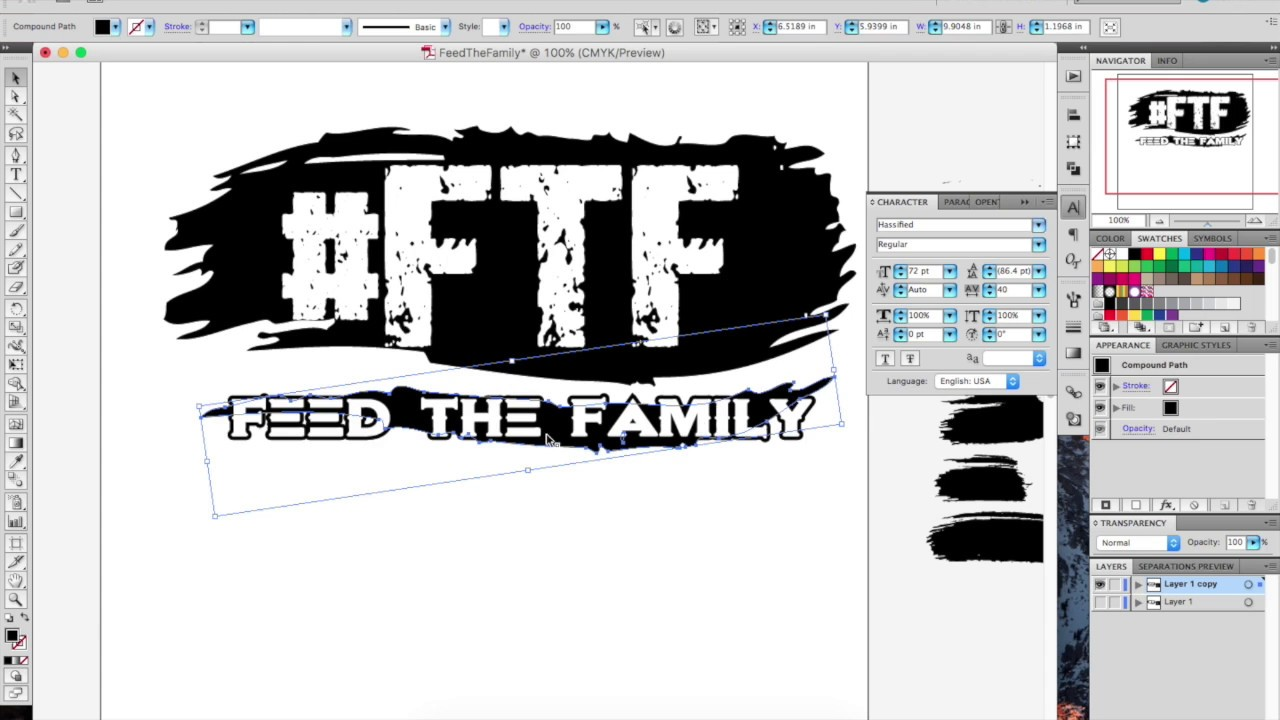 How To Design A T Shirt In Illustrator Feed The Family