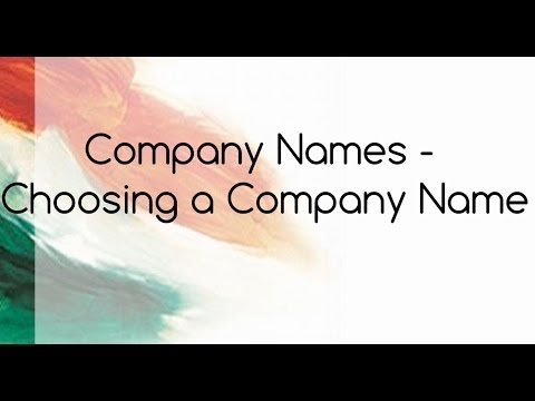How Choose A Company Name?