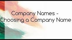 How Choose a Company Name?