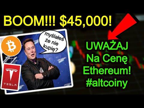 Bitcoin Zalicza $45,000!!! TESLA Inwestuje $1,5mld w Bitcoina! Nowe ATH!! Ethereum Następne?!