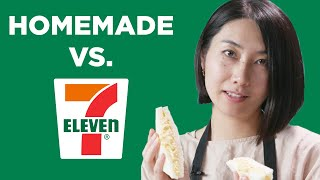 Homemade Vs. 7-Eleven: Japanese Egg Salad Sandwich • Tasty