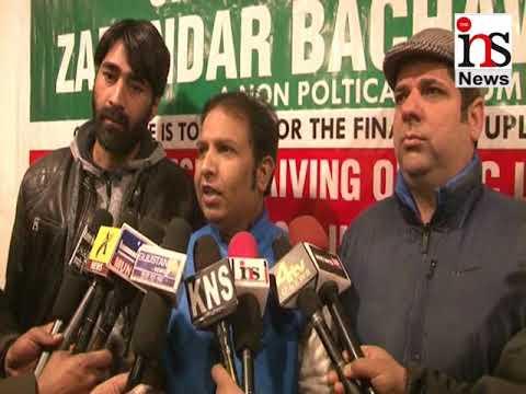 Jammu and Kashmir Zimindar Bachav Forum while addressing presser