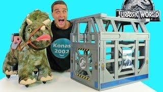 Jurassic World Ride On Triceratops ! || Toy Review || Konas2002