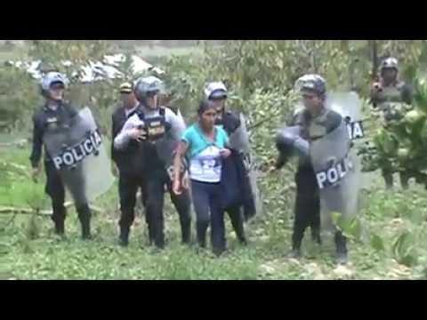 PERÚ desalojo de cien familias REALMENTE  pobres de Cajamarca