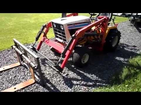 Cub Cadet 1772 loader with homemade quick attach