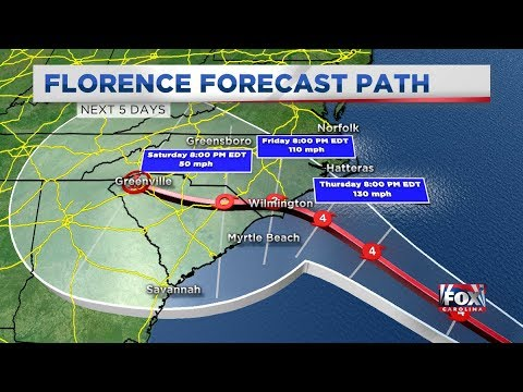 ????The Weather Channel - Hurricane Florence Live Coverage (24/7)