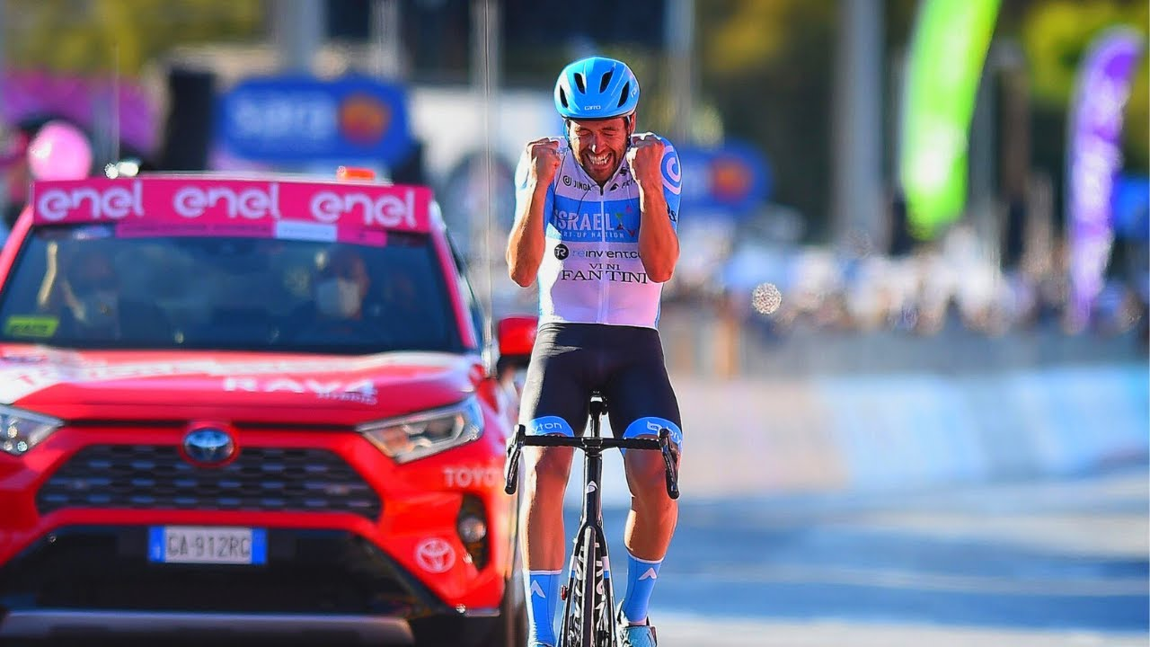 Alex Dowsett vinner den åttende etappen i Giro d'Italia for Israel Start-up Nation