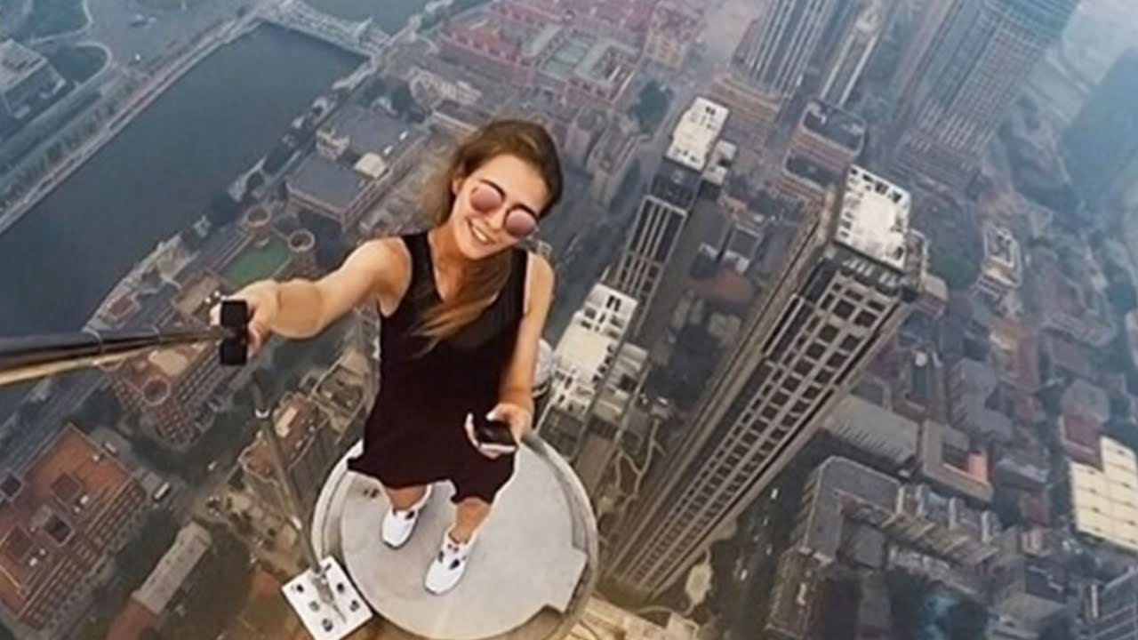 Girl Falls Off Building After Taking A Selfie Youtube